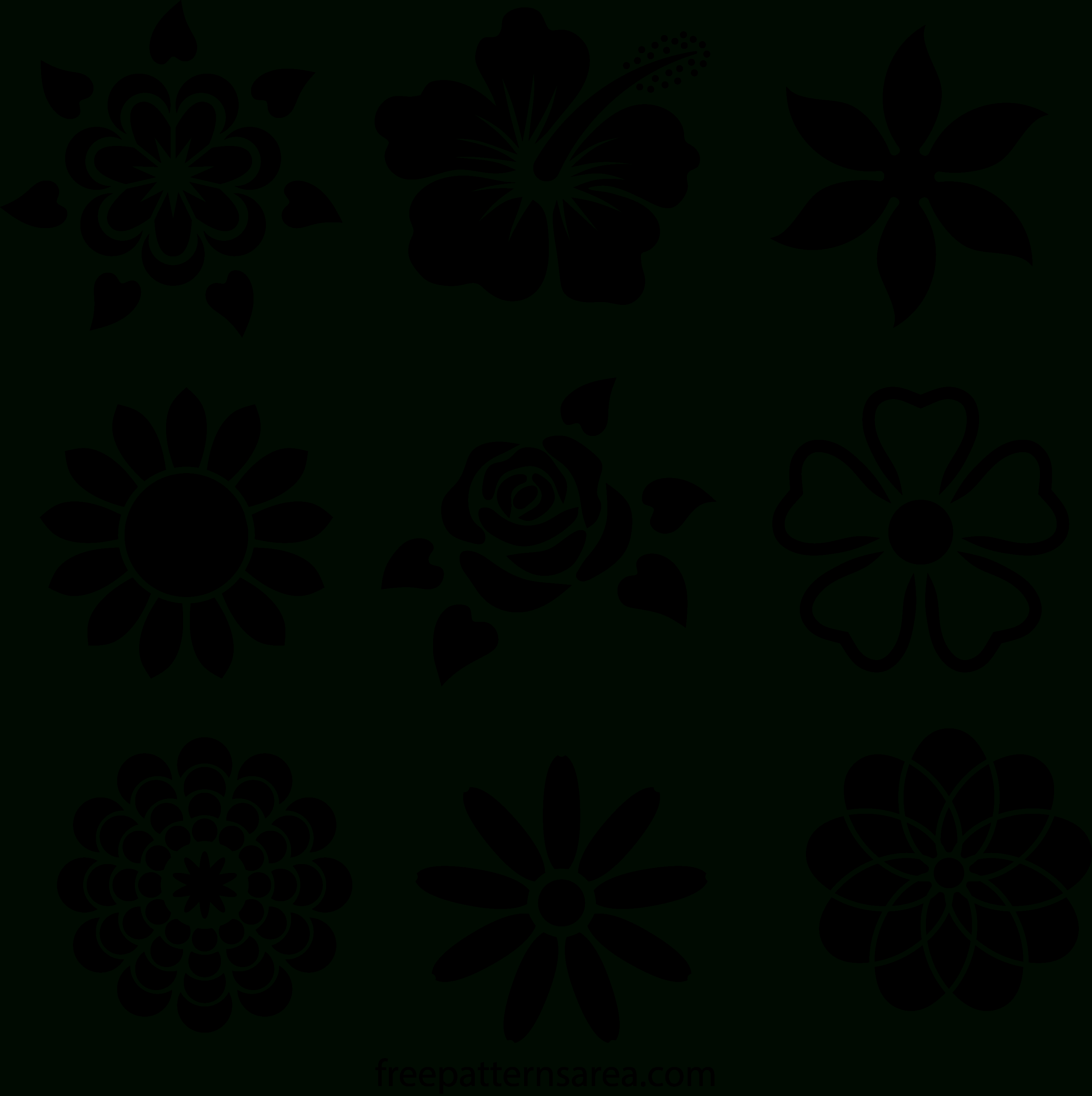 Printable Stencil Designs - Tutlin.psstech.co - Free Printable Flower Stencils
