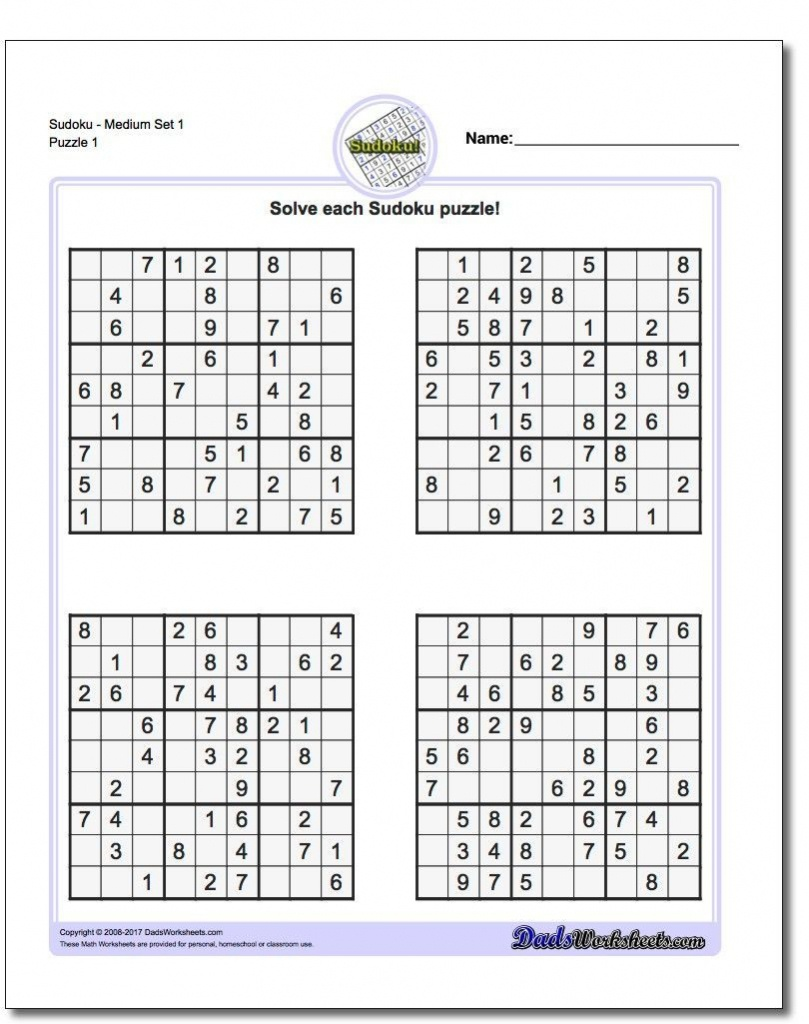 Printable Sudoku Free - Free Printable Sudoku 6 Per Page