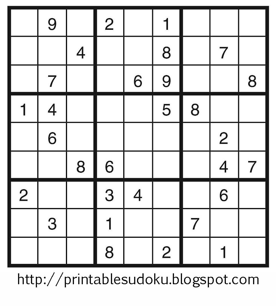 Printable Sudoku - Free Printable Suduko