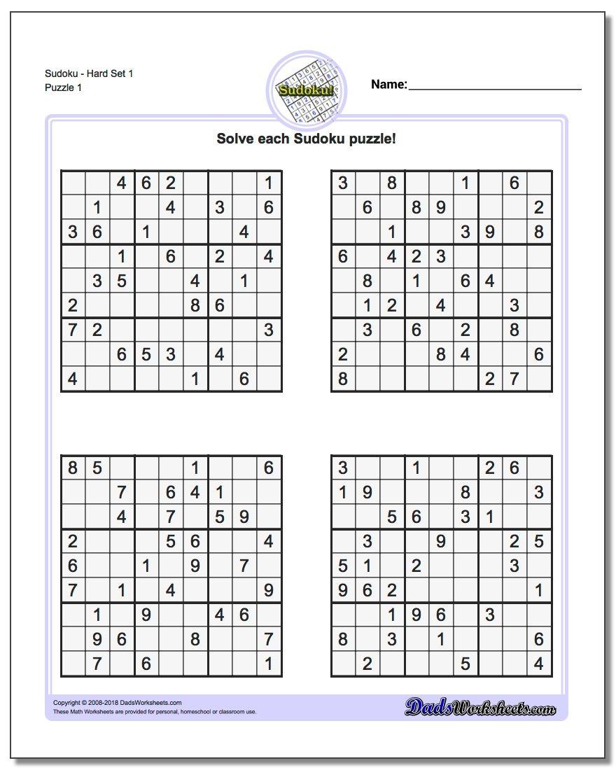 Printable Sudokus | Room Surf - Free Printable Sudoku Pdf