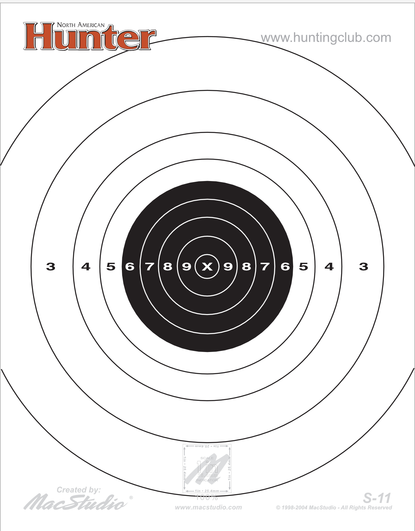 Printable Target Collection - Free Printable Nra 25 Targets