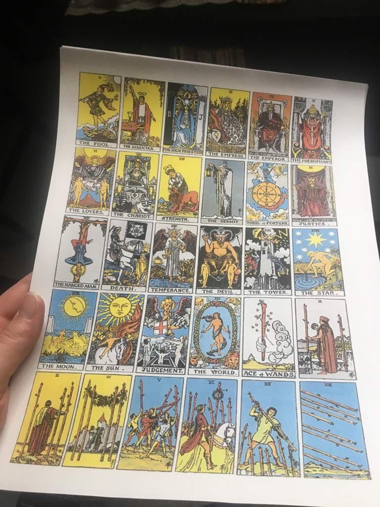 Printable Tarot Deck ~   The Witches' Circle Amino - Free Printable Tarot Cards