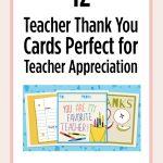 Printable Teacher Thank You Cards For Teacher Appreciation   Free Printable Teacher Appreciation Cards