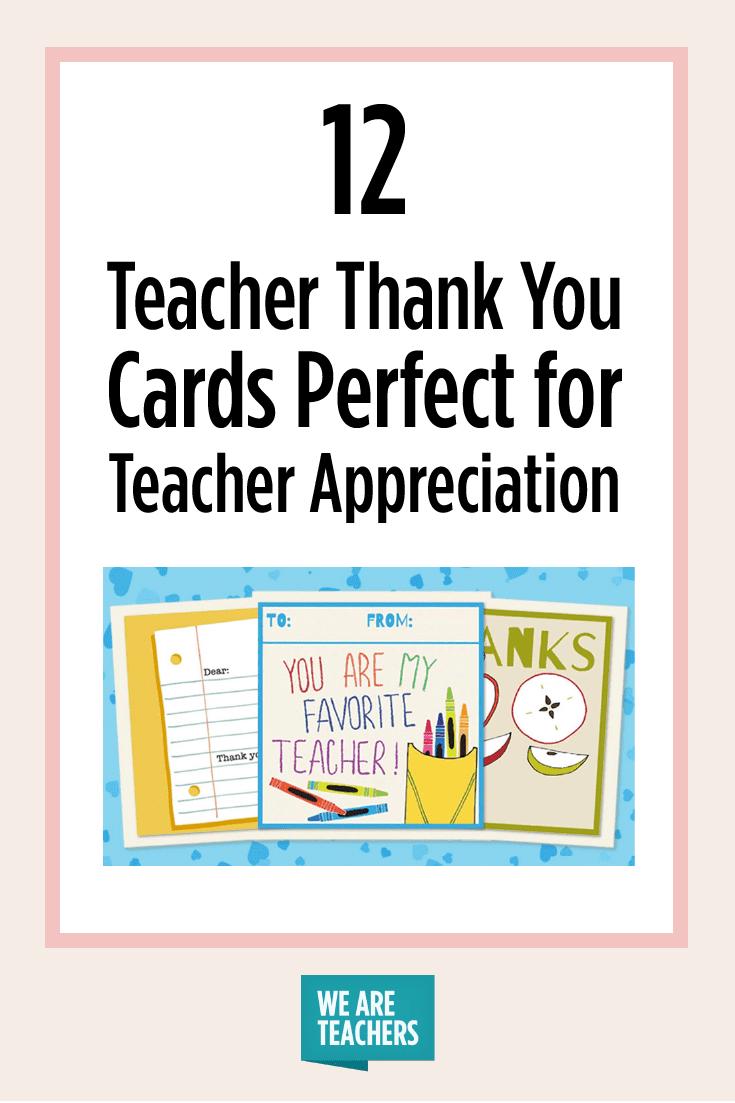 Printable Teacher Thank You Cards For Teacher Appreciation - Free Printable Teacher Appreciation Cards