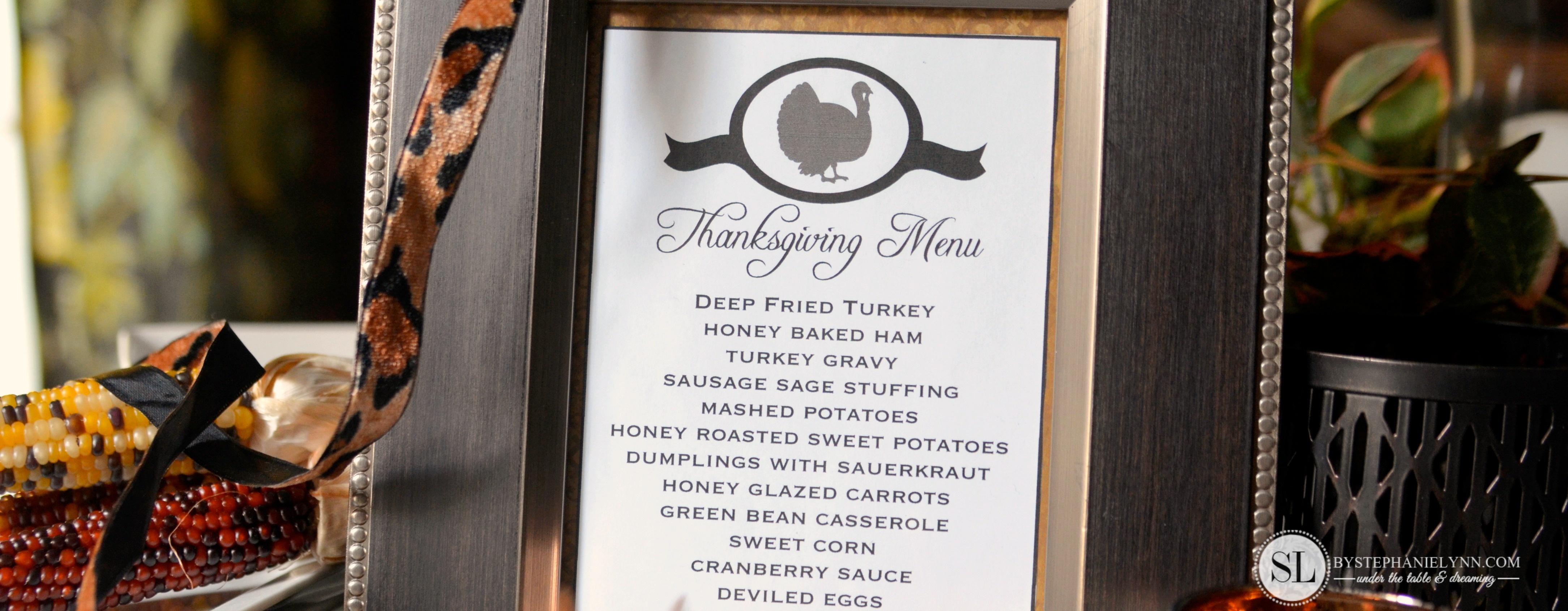 Printable Thanksgiving Menu Template | Making Printables With The - Free Printable Thanksgiving Menu Template