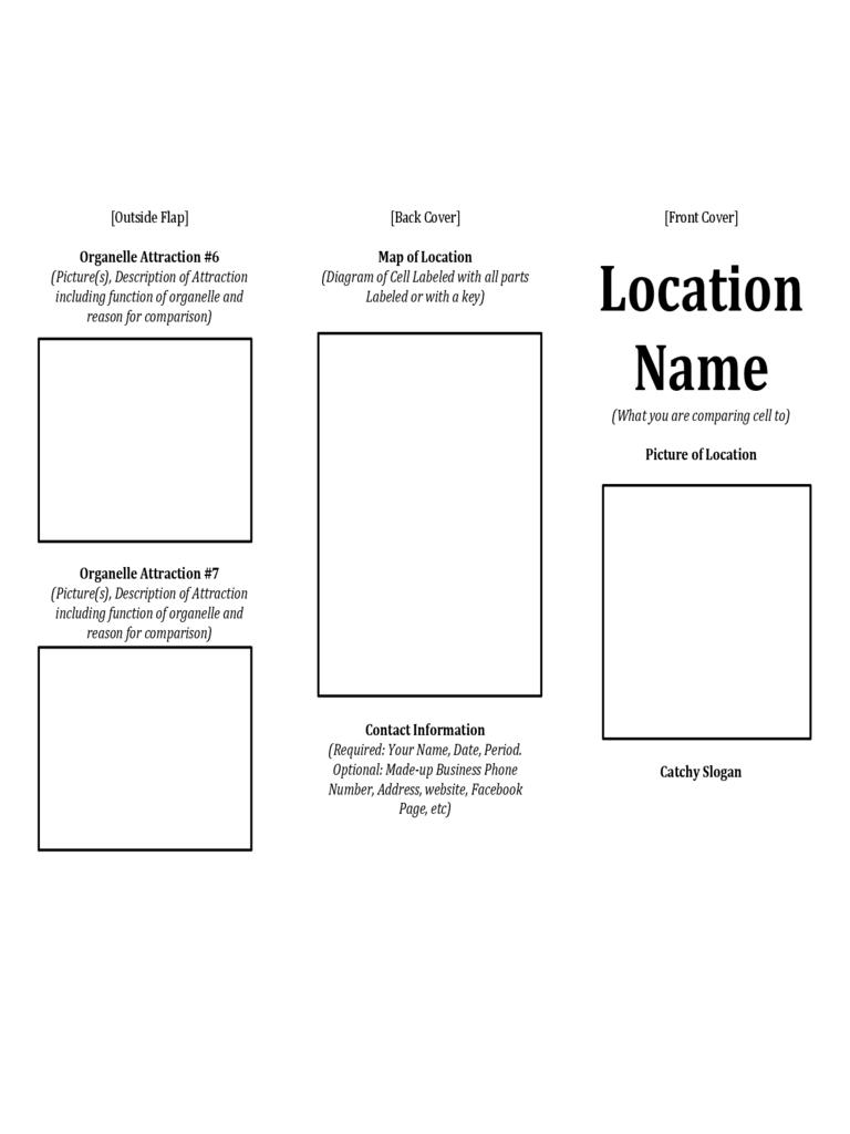Printable Travel Brochure Template For Kids | Theveliger - Free Printable Travel Brochures
