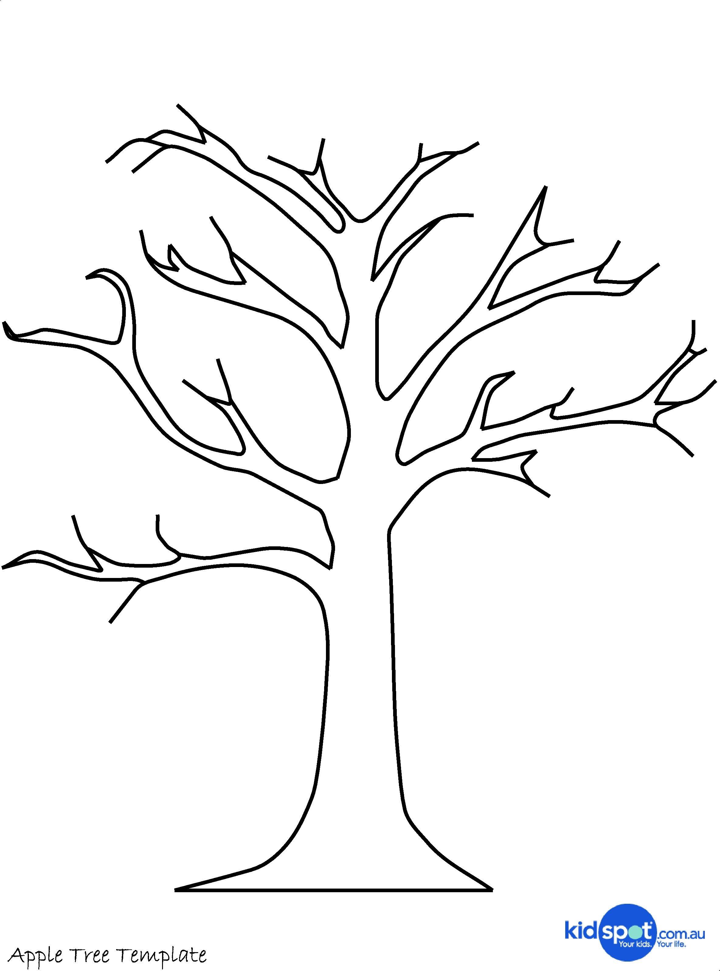Printable Tree Template | Tree Craft - Cork Stamp Apple Tree - Art - Free Printable Tree Template
