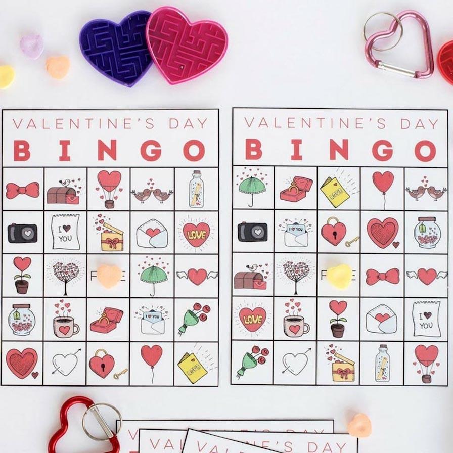Printable Valentine's Bingo | Fun365 - Free Printable Valentines Bingo