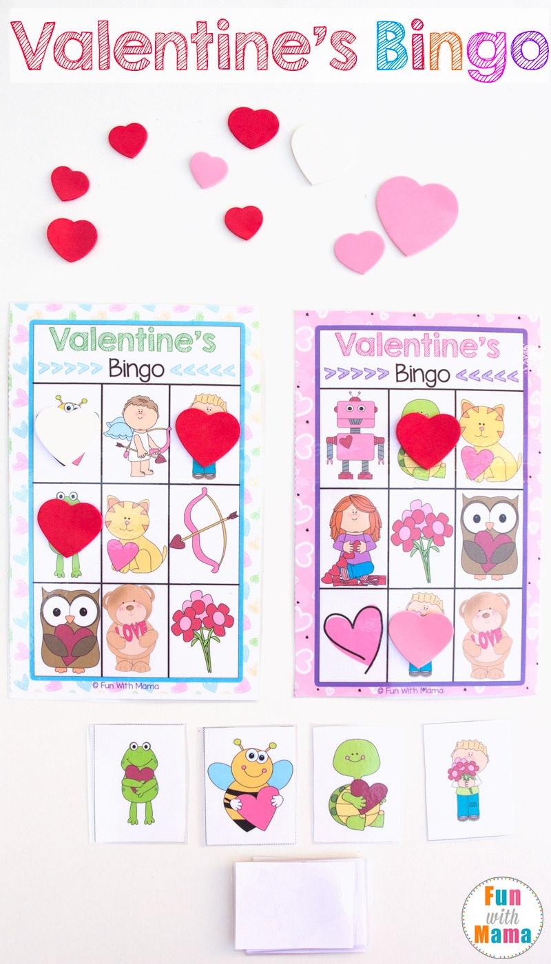 Printable Valentine's Bingo Game - Fun With Mama - Free Printable Valentines Bingo