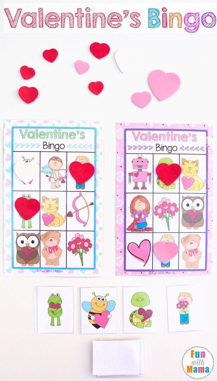 Printable Valentine's Bingo Game | Valentine's Day | Valentine Bingo - Free Printable Valentine Games For Adults