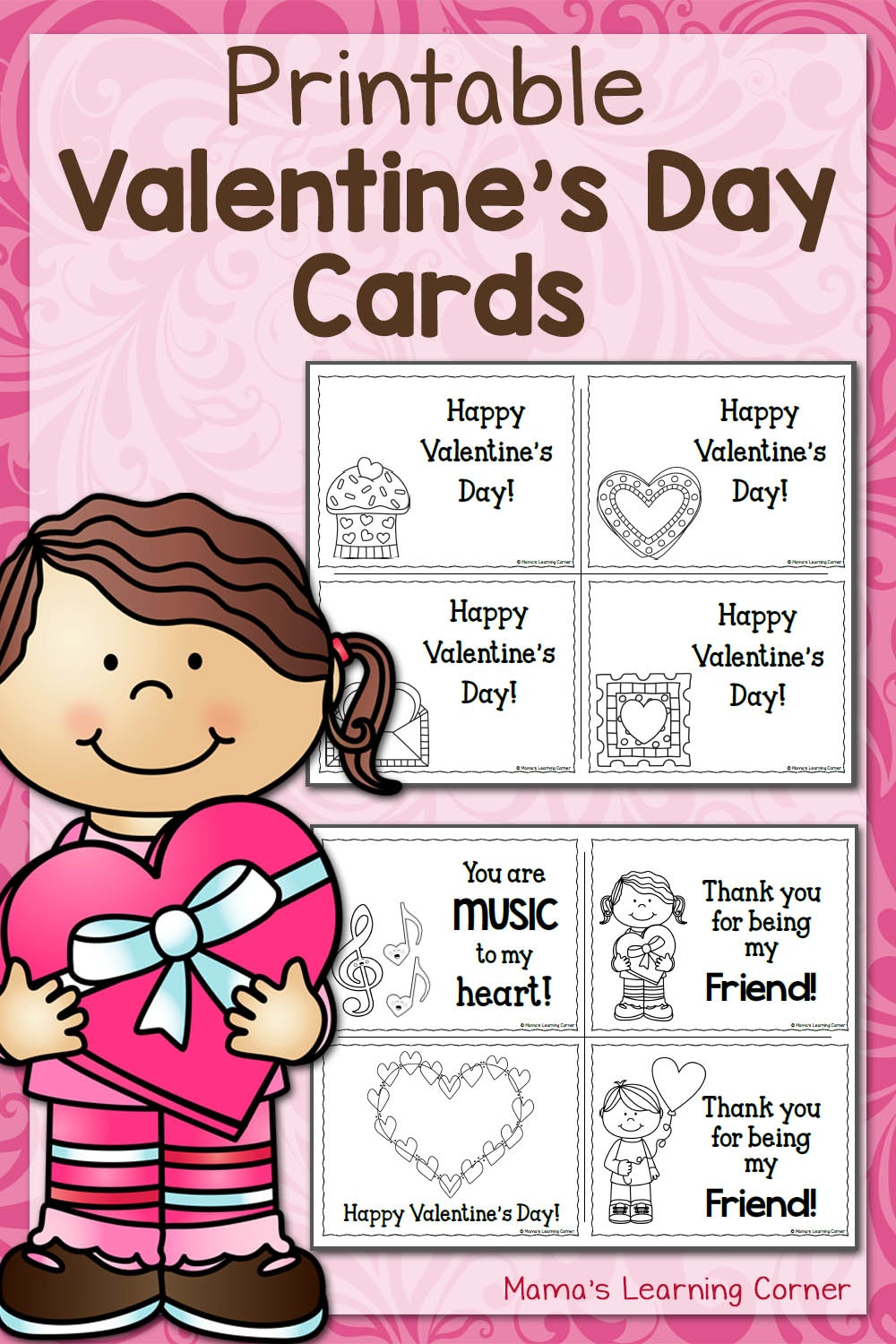 Printable Valentine's Day Cards - Mamas Learning Corner - Free Printable Grade Cards