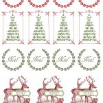 Printable   Vintage Christmas Stickers | Merkimiðar | Christmas   Free Printable Holiday Stickers