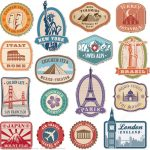 Printable Vintage Travel Stickers | Free Printable Papercraft Templates   Free Printable Old Fashioned Labels