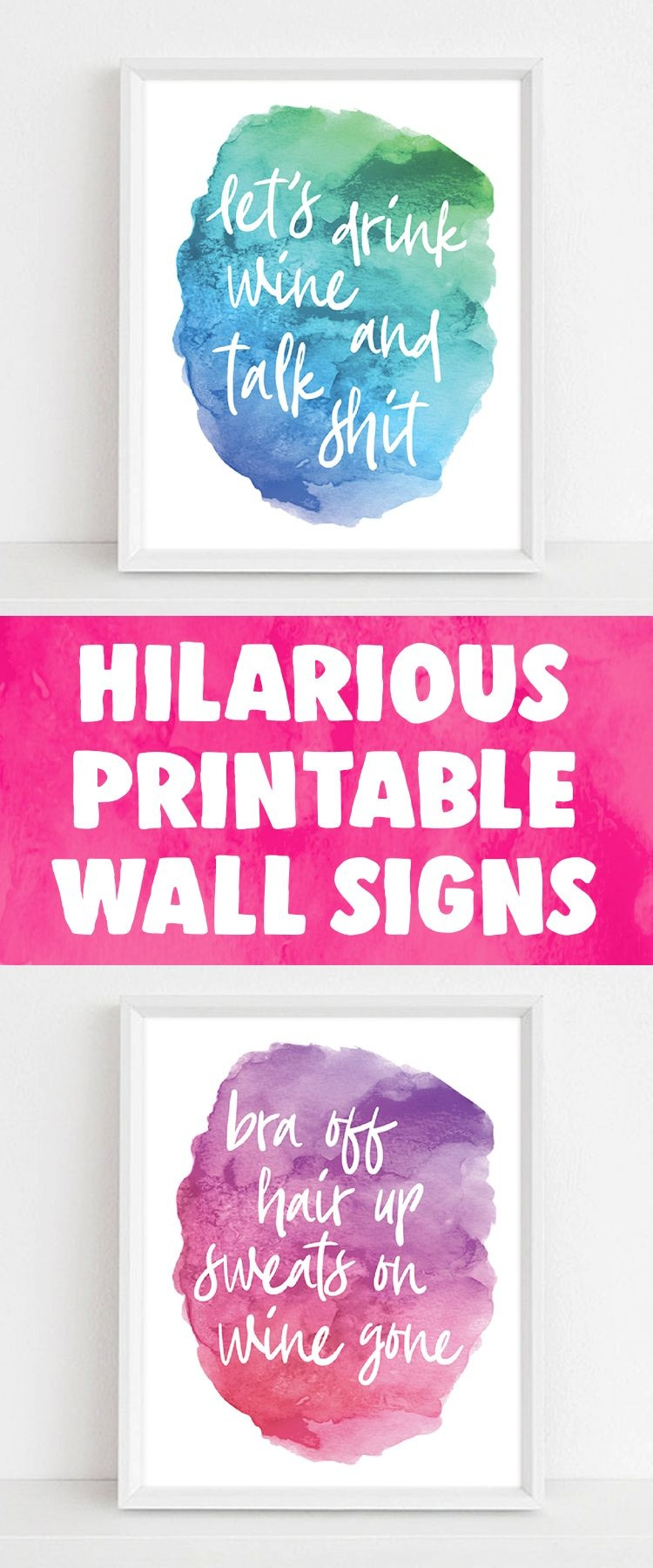 Printable Wall Art   Emerald And Mint Designs   Funny Home Decor - Free Printable Funny Signs