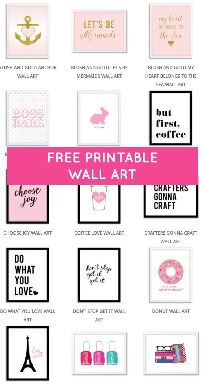 Printable Wall Art - Print Wall Decor And Poster Prints For Your - Free Printables For Home Decor