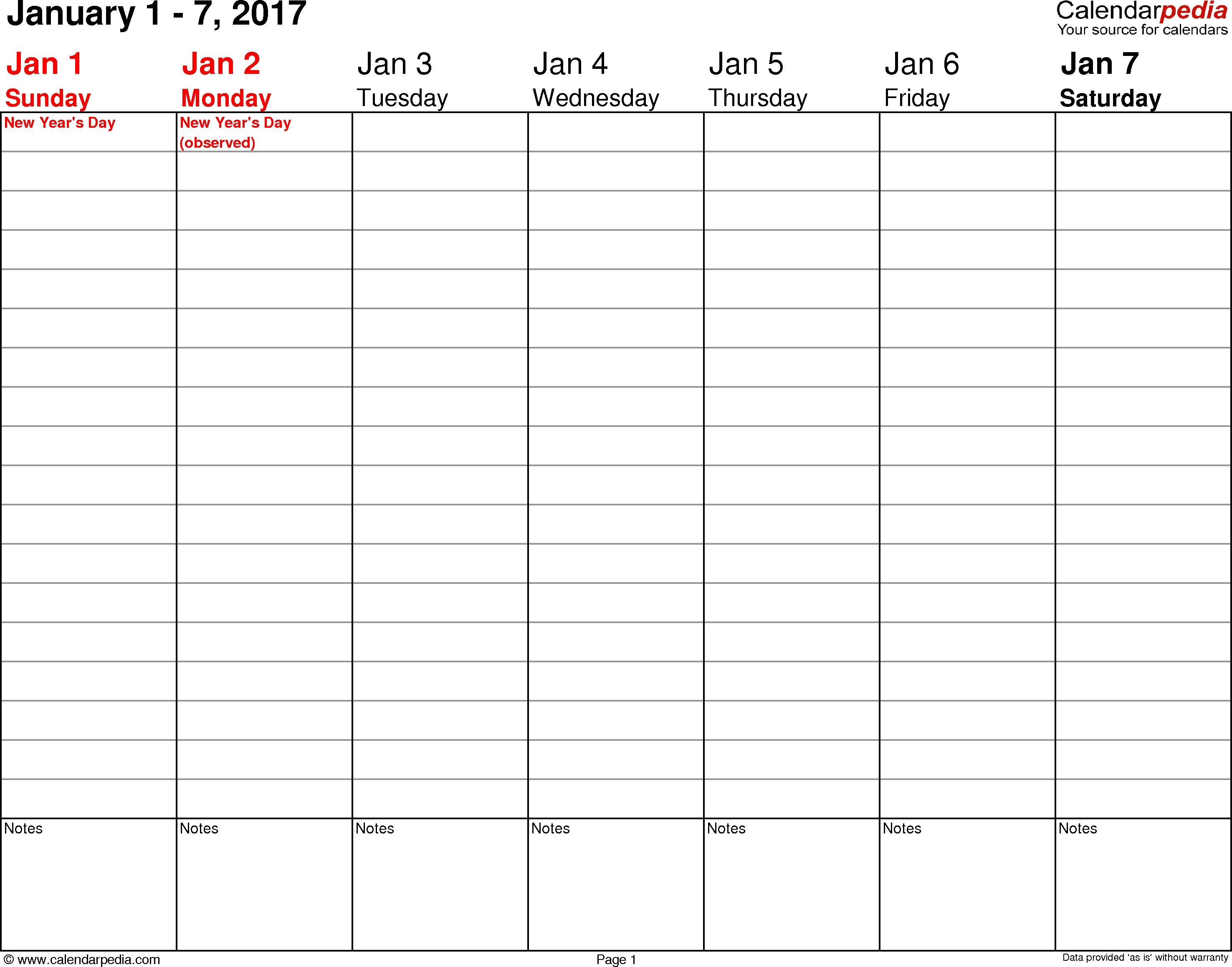 Printable Weekly Planner 2017 | Room Surf - Free Printable Organizer 2017
