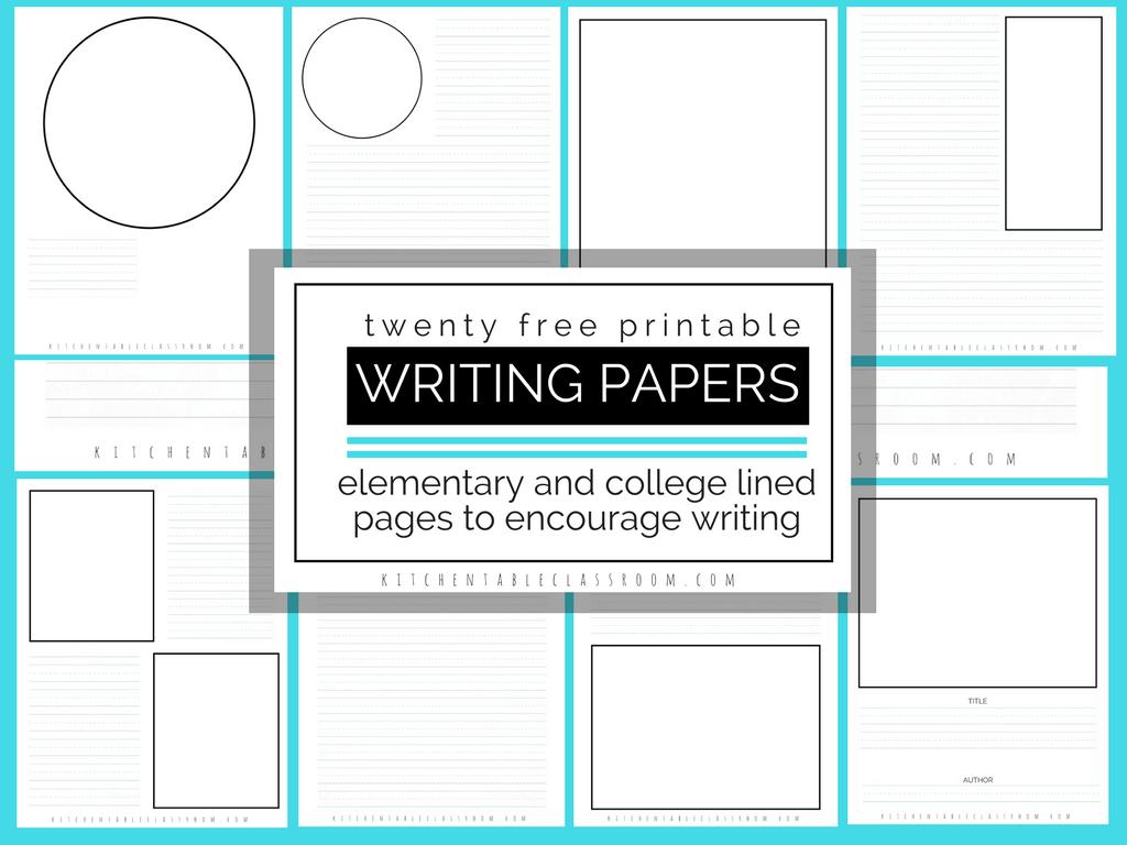 Printable Writing Paper For Kids- Twenty Versions Of Lined Paper To - Free Printable Writing Paper