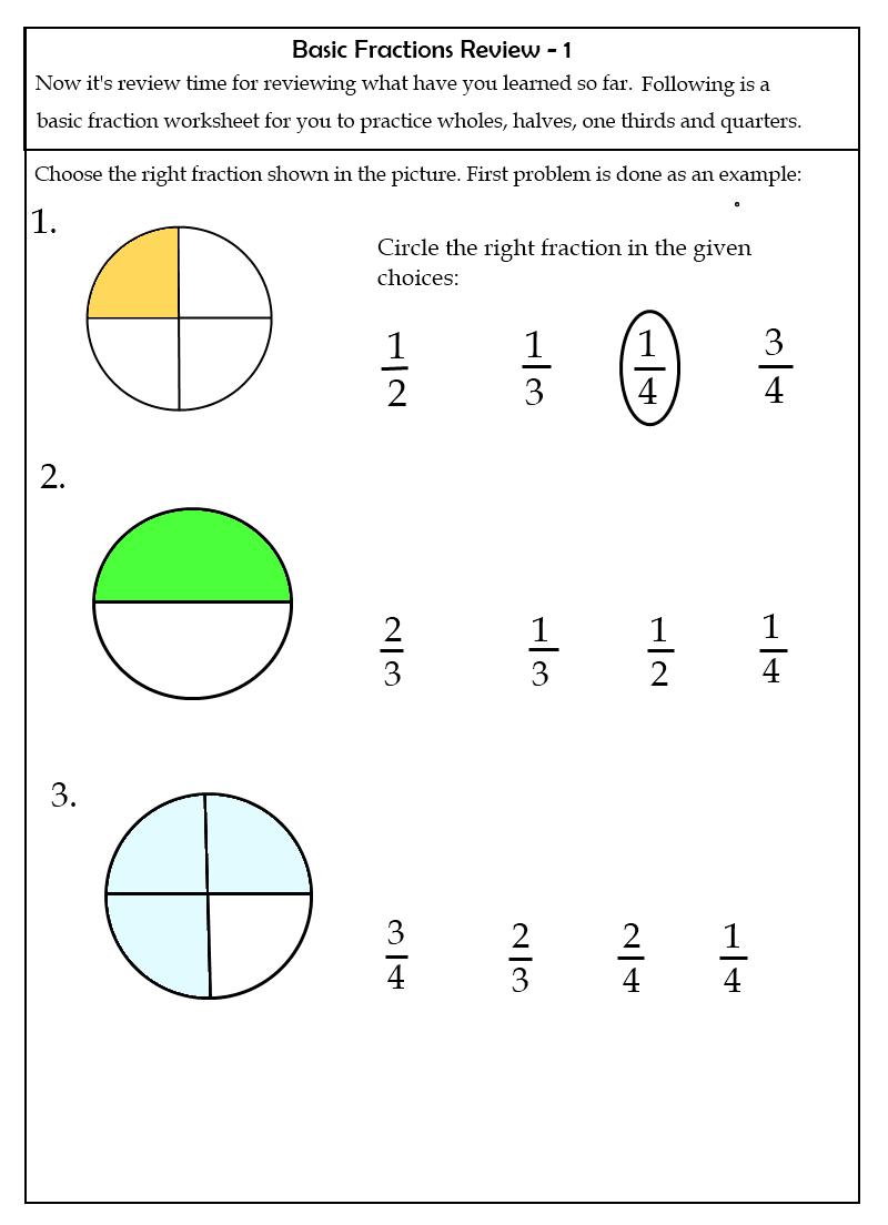 Printables. First Grade Fractions Worksheets. Lemonlilyfestival - Free Printable First Grade Fraction Worksheets