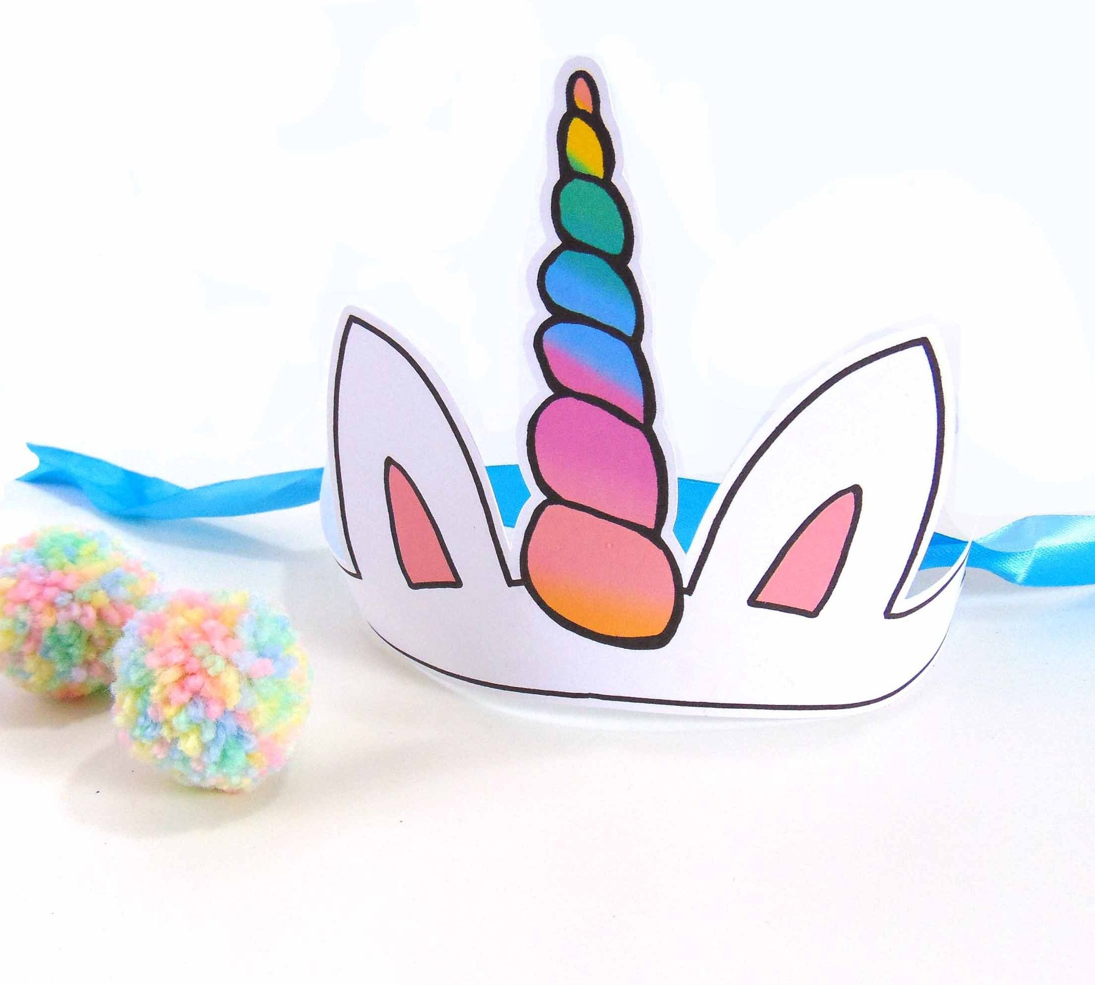 Printables   Rianne   Unicorn Party Hats, Unicorn Birthday Parties - Free Printable Party Hat