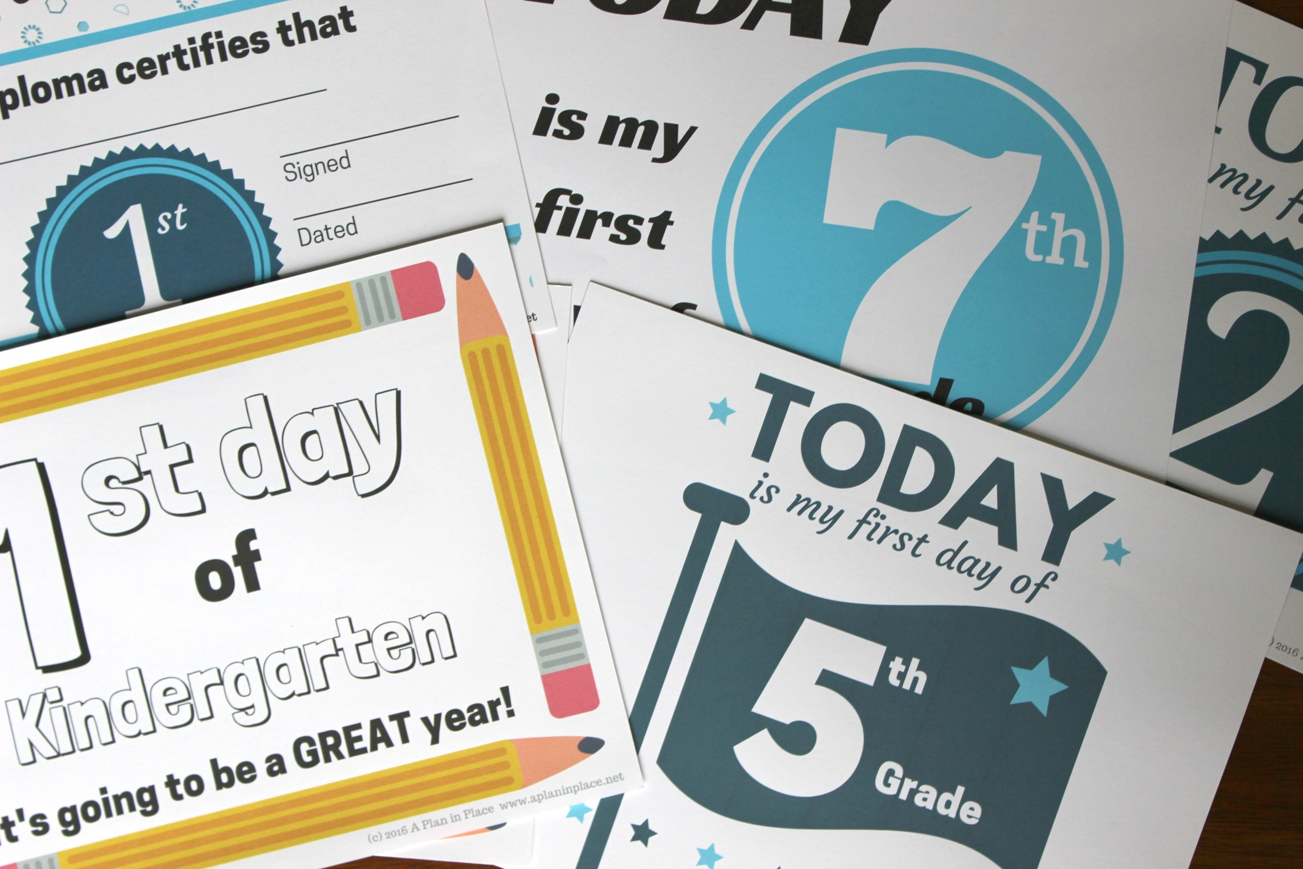 Printed Certificates | A Plan In Place - Free Printable First Day Of School Certificate