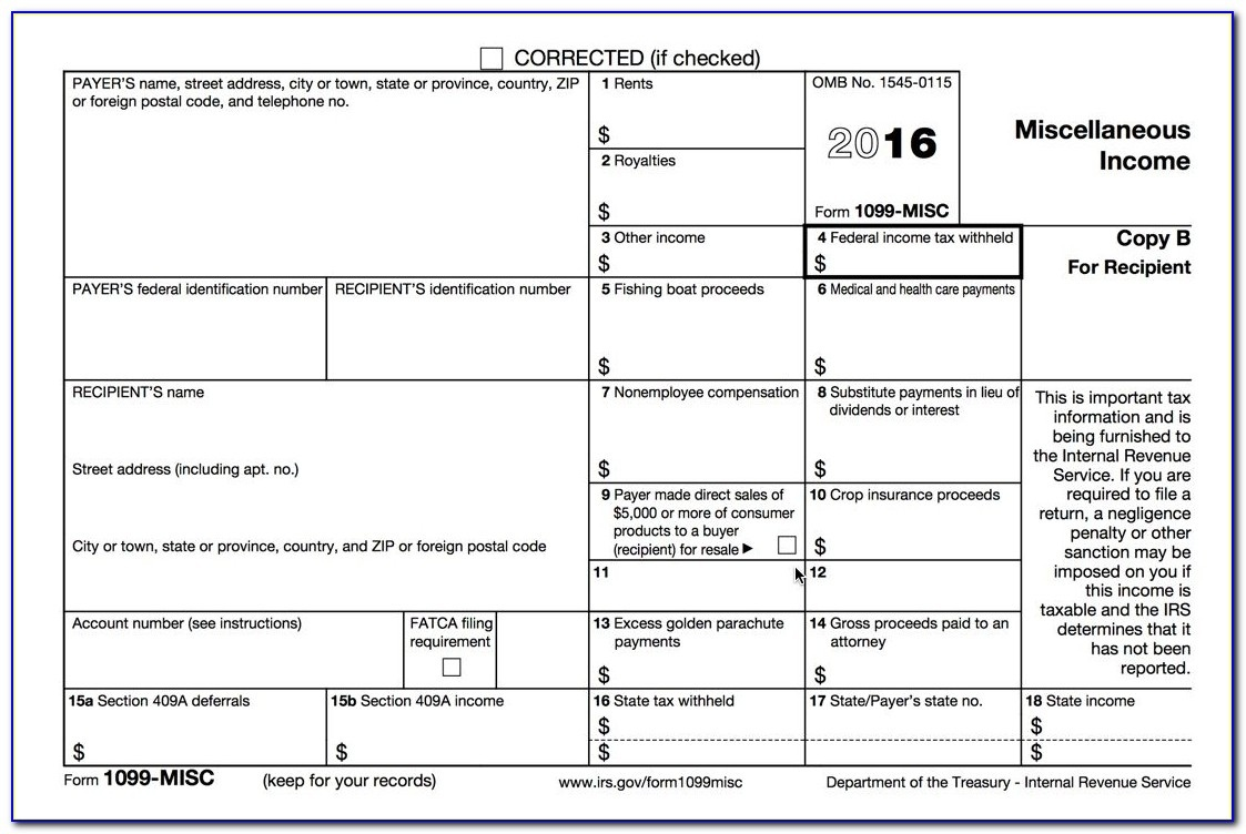 Process 1099 Misc Forms – Buildium Help Center Within Printable 1099 - Free Printable 1099 Form 2016