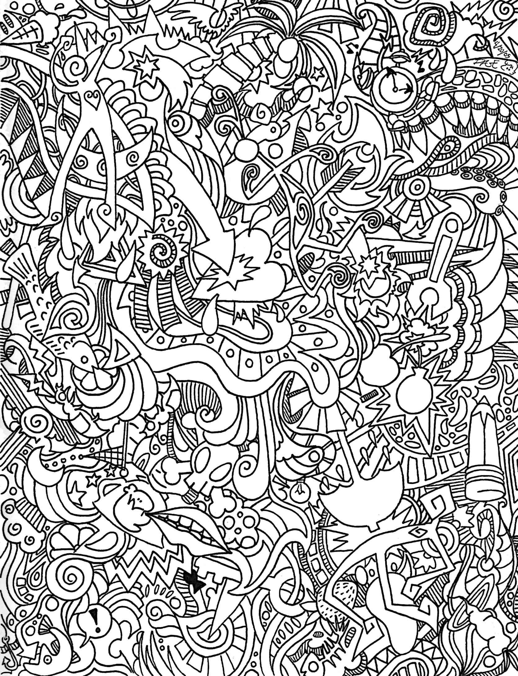 Psychedelic Coloring Pages To Download And Print For Free   Adult - Free Printable Trippy Coloring Pages