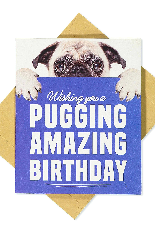 Pug Birthday Card – Nataliebaker - Free Printable Pug Birthday Cards