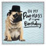 Pug Birthday Card – Nataliebaker   Free Printable Pug Birthday Cards