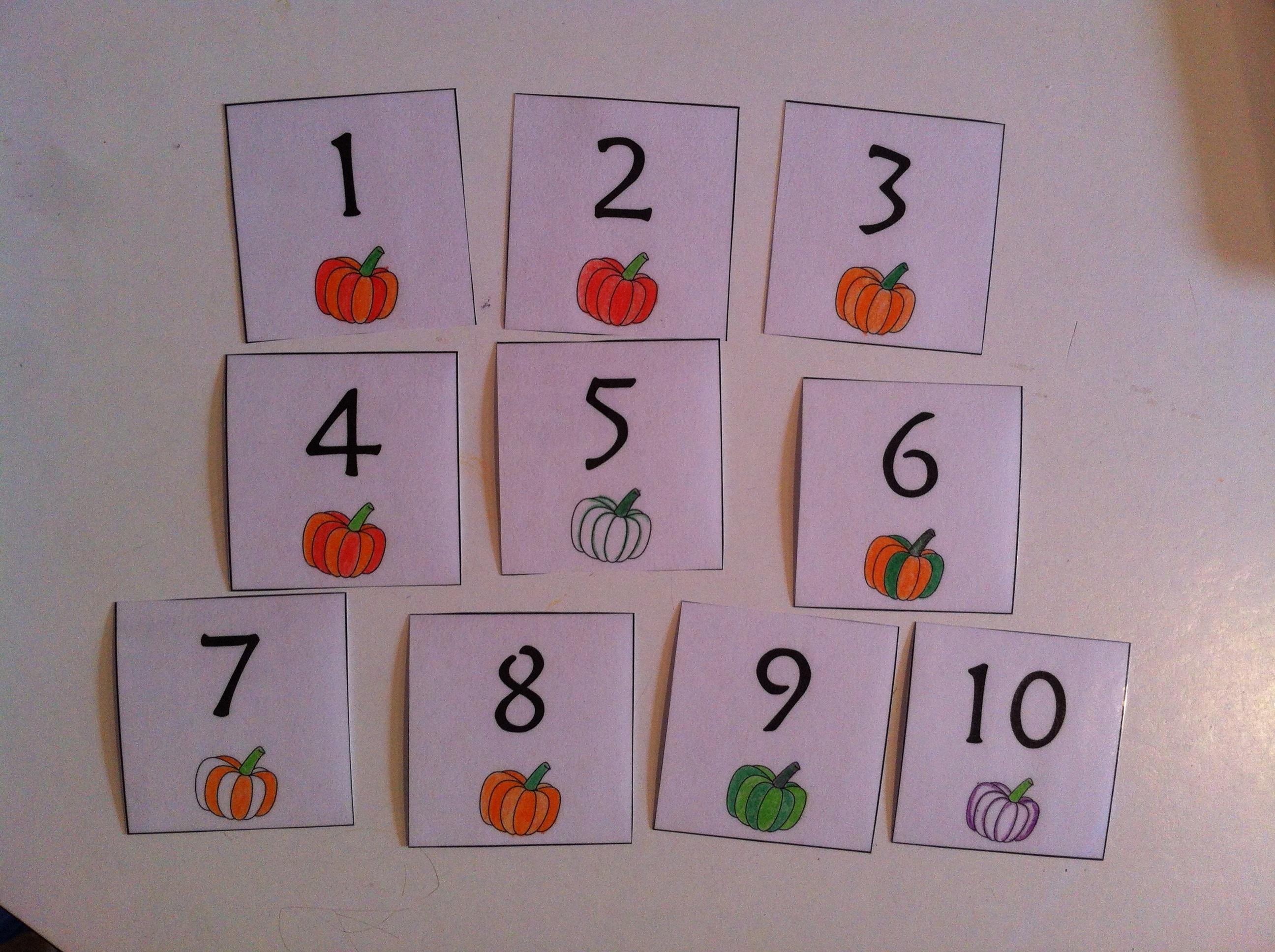 Pumpkin Cake Walk | Meagan Makes - Free Printable Cake Walk Numbers