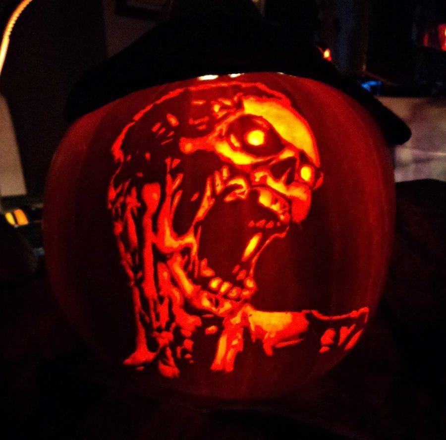 Pumpkin Carving   Zombie Pumpkin Carving~Ashleymenard122 On - Free Printable Zombie Pumpkin Carving Stencils