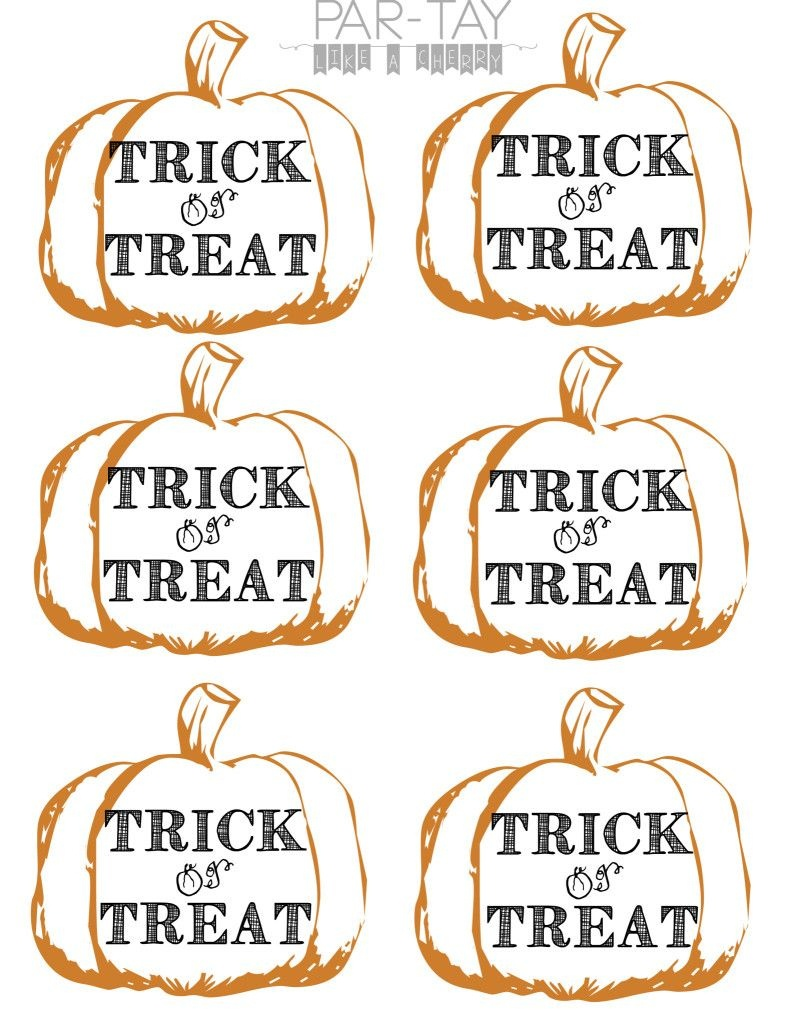 Pumpkin Tags Free Printable | Party Like A Cherry | Halloween Treats - Free Printable Halloween Labels For Treat Bags