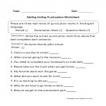 Punctuation Worksheets   Ending Punctuation Worksheets   Free Printable Worksheets For Punctuation And Capitalization