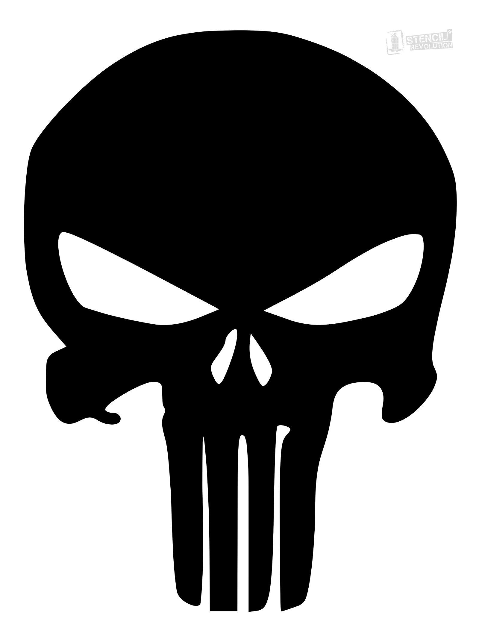 Punisher Skull Stencil | Firearms | Skull Stencil, Printable Stencil - Skull Stencils Free Printable