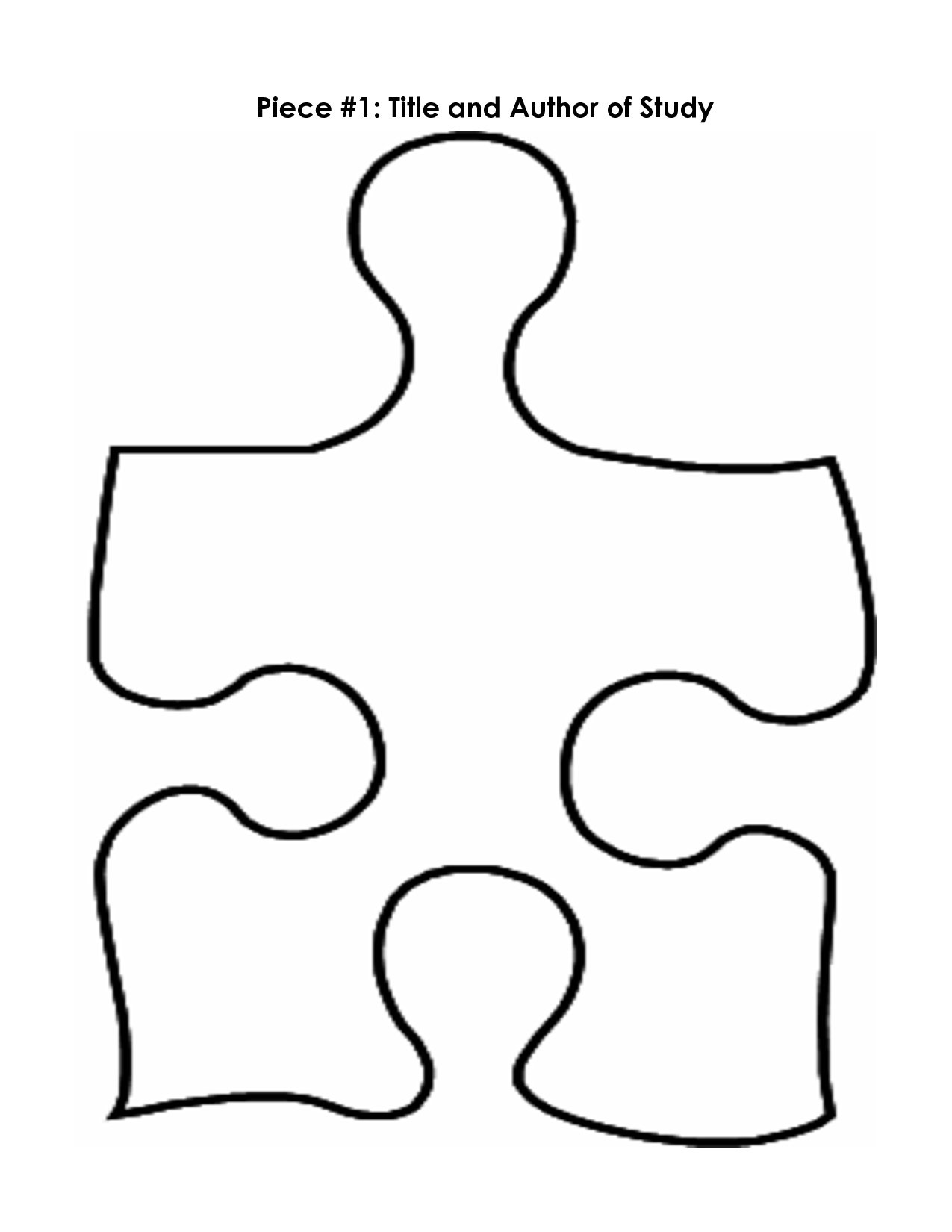 Puzzle Piece Mystery Book Template Pp   Printables   Puzzle Piece - Free Printable Blank Puzzle Pieces