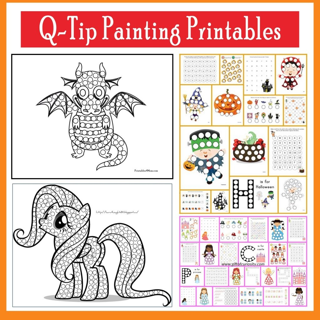 Q-Tip Painting Templates And Do-A-Dot Printables - Printables 4 Mom - Do A Dot Art Pages Free Printable