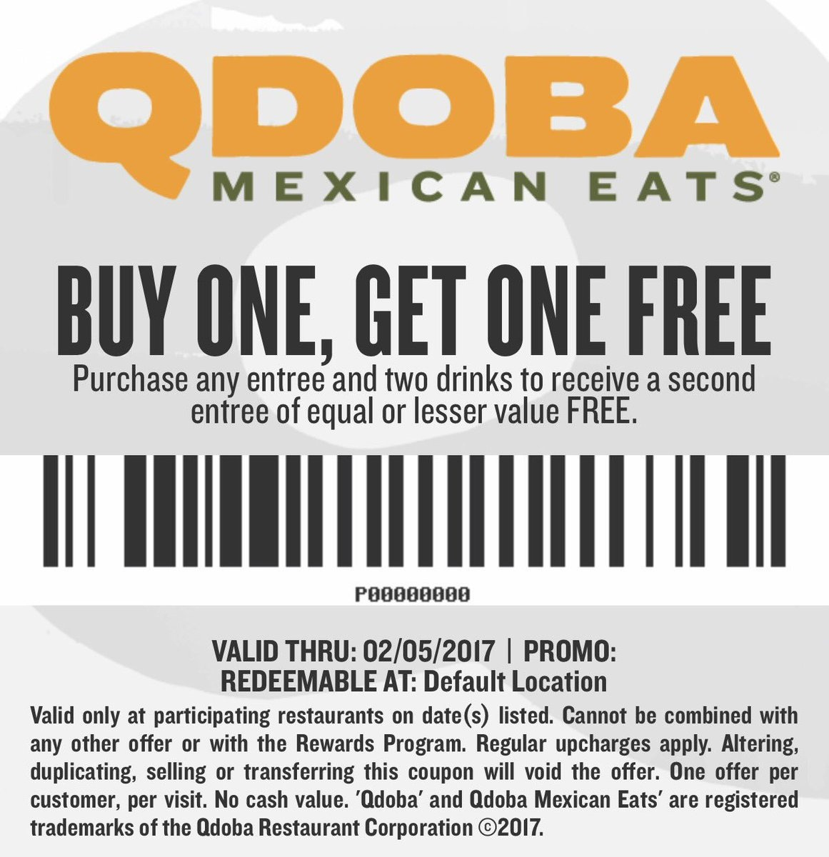 Qdoba Online Coupons | Printable Coupons Online - Free Printable Dave And Busters Coupons