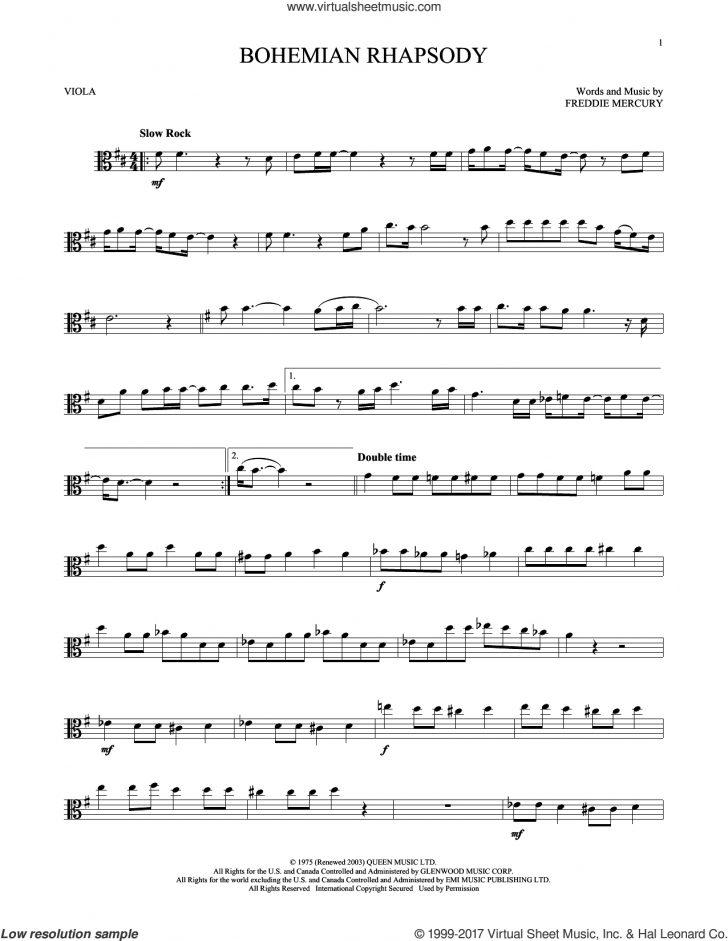 Viola Sheet Music Free Printable