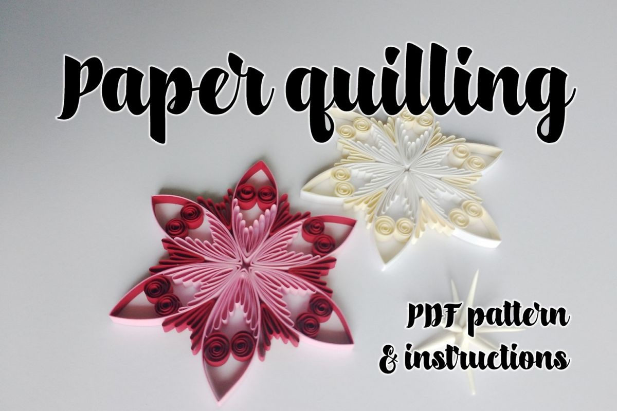 Quilling Pattern & Step-By-Step Diagram Guided Tutorial (Qd13) - Free Printable Quilling Patterns Designs