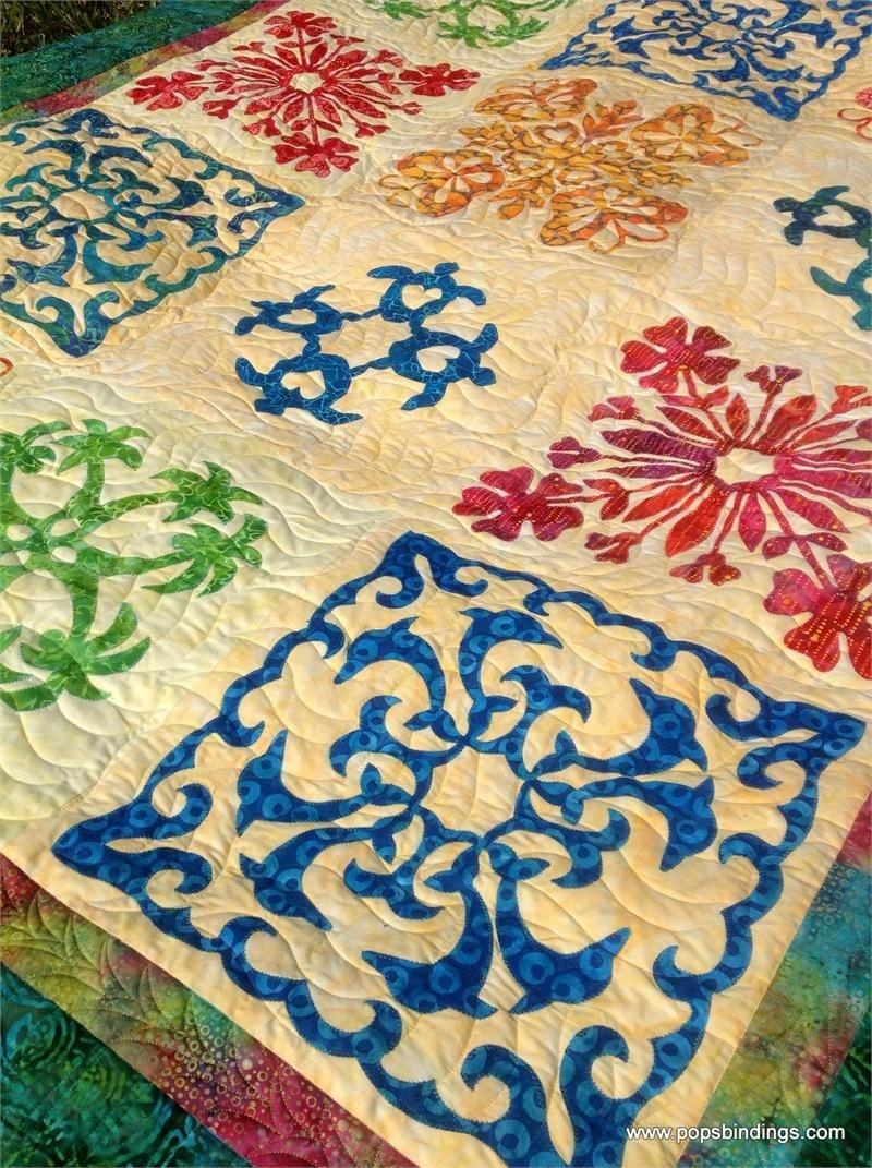 Quilt Kits   Easy Hawaiian Quilting - Honolulu Sampler Quilt Kit W - Free Printable Hawaiian Quilt Patterns