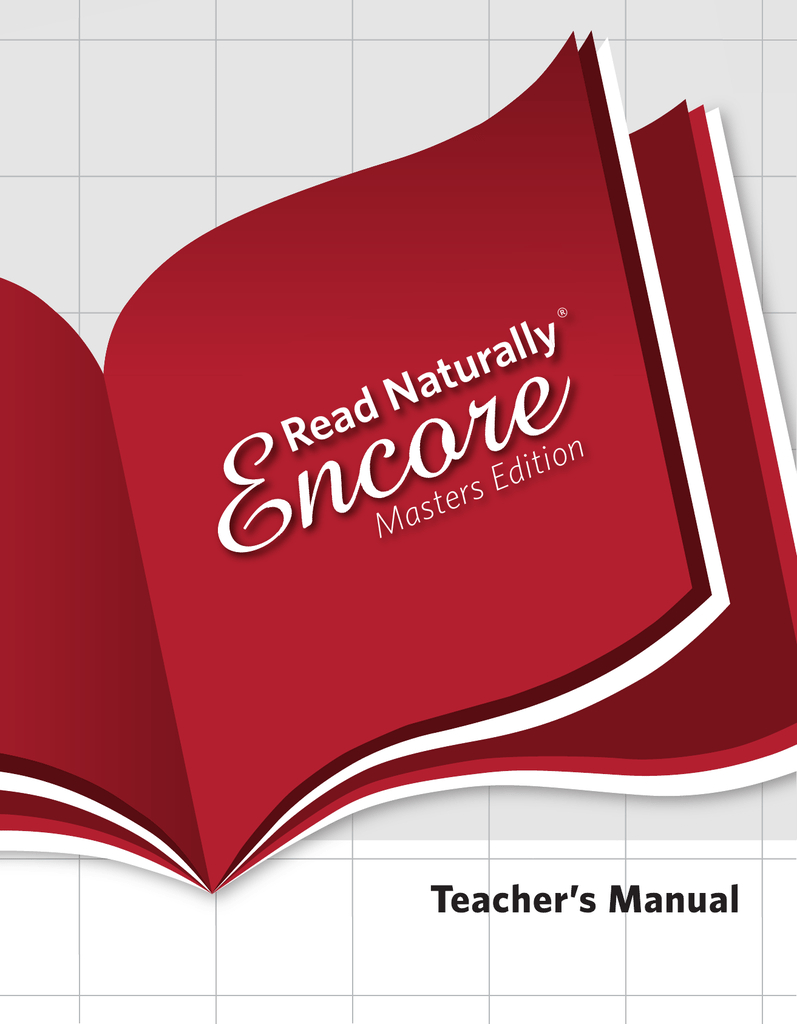 Read Naturally Encore Teacher`s Manual - Free Printable Read Naturally Passages