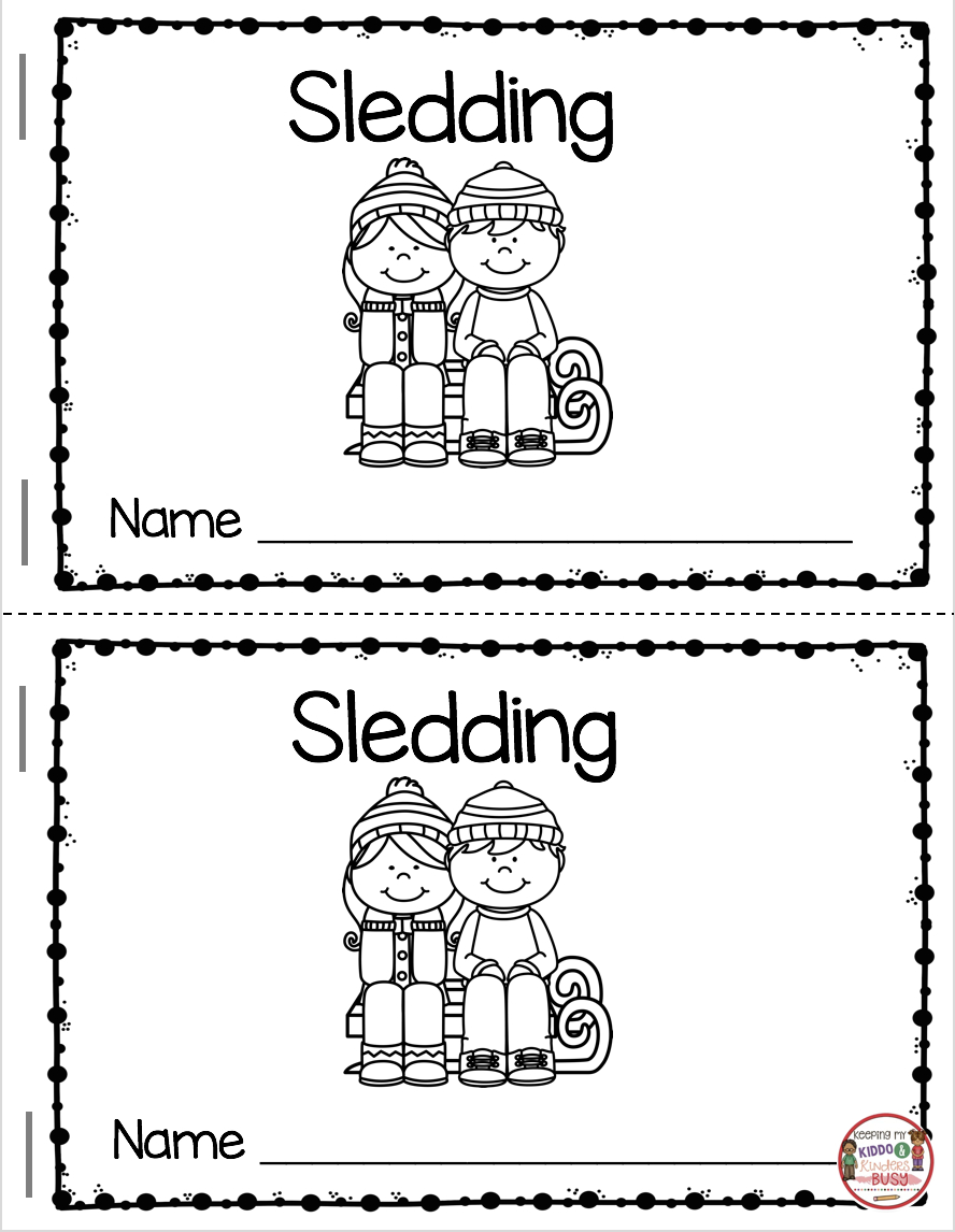 Reading And Writing In January | Education | Kindergarten Reading - Free Printable Mini Books