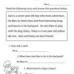 Reading Comprehension Practice Worksheet | Education | 1St Grade   Free Printable Reading Passages With Questions