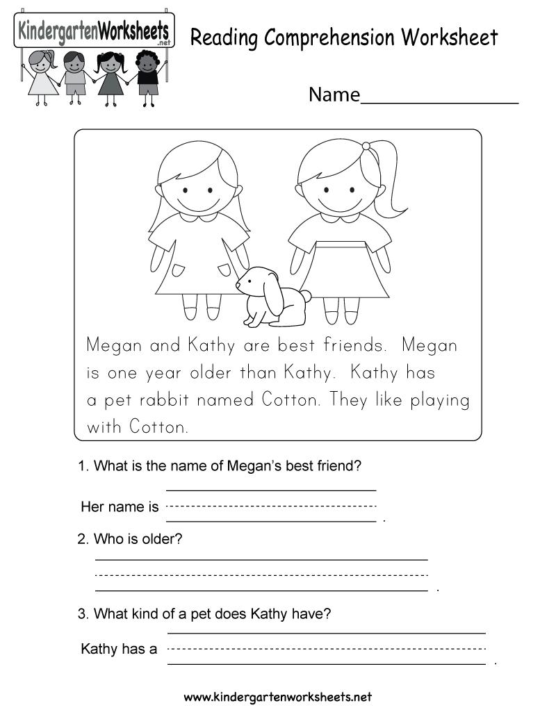 Reading Comprehension Worksheet - Free Kindergarten English - Free Printable Spanish Reading Comprehension Worksheets
