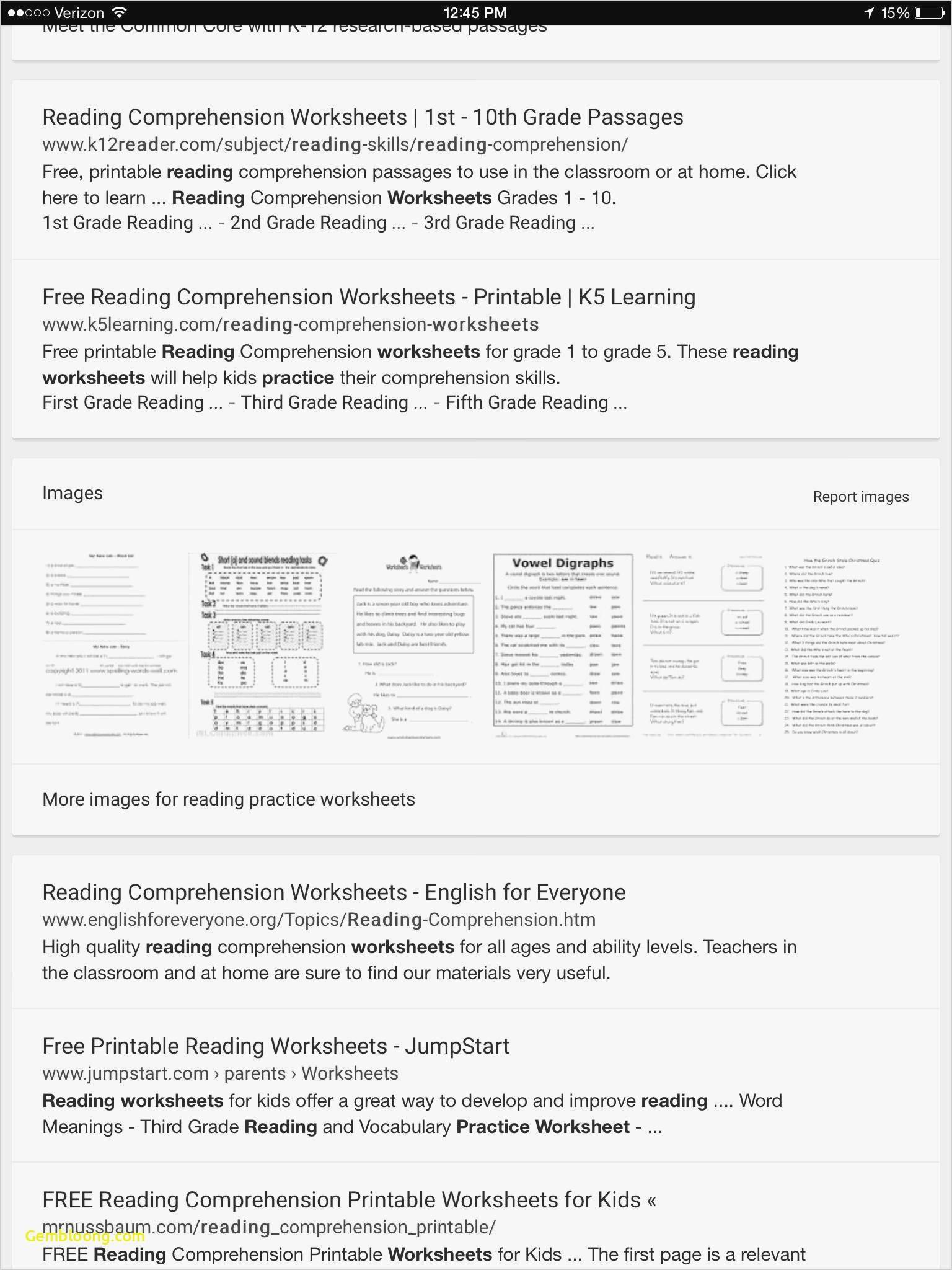 Reading Comprehension Worksheets For 1St Grade - Cramerforcongress - Free Printable Reading Worksheets For 5Th Grade