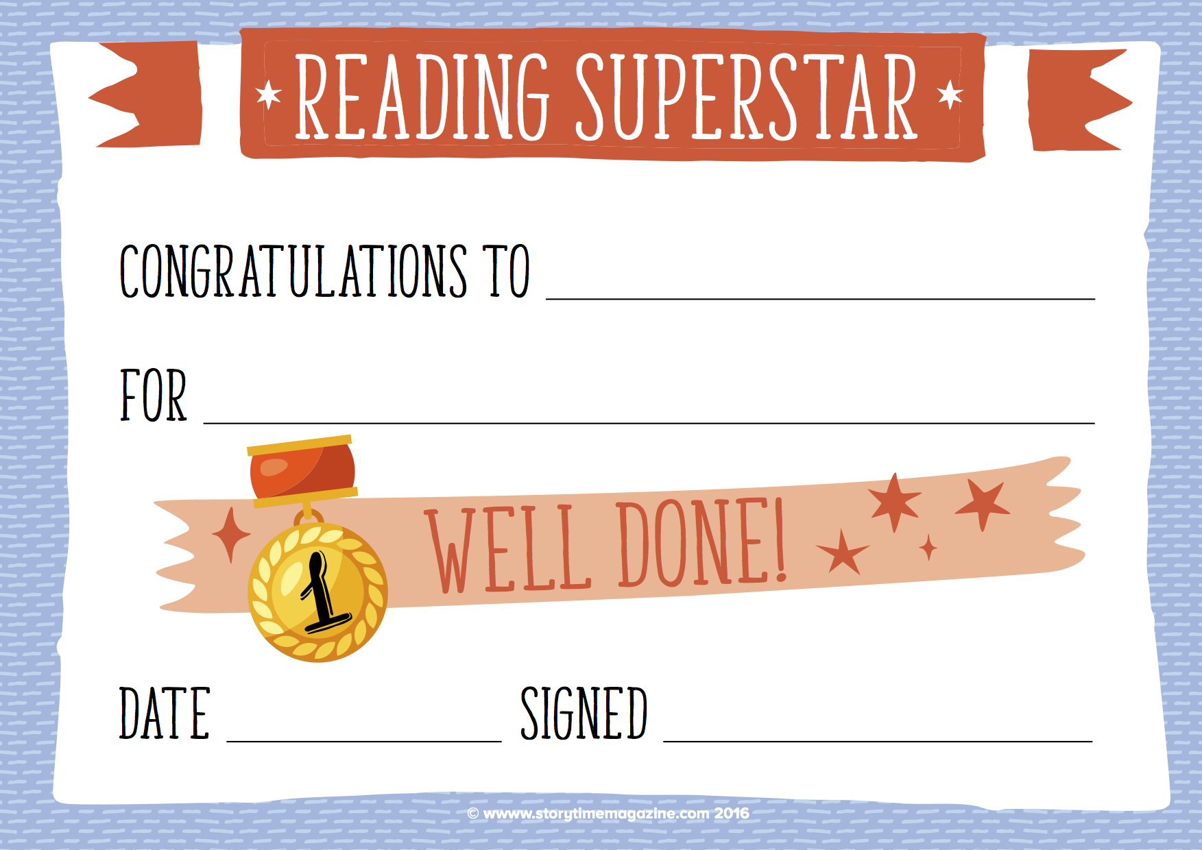 Reading Rewards That Work | Storytime Magazine - Free Printable Reward Certificates