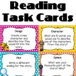 Reading Task Cards   Guided Reading | Literacy | Reading Task Cards   Free Printable Blank Task Cards