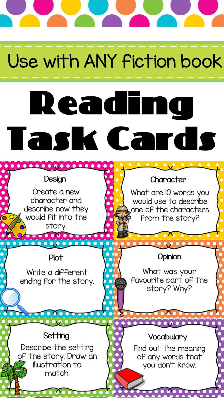 Reading Task Cards - Guided Reading | Literacy | Reading Task Cards - Free Printable Blank Task Cards