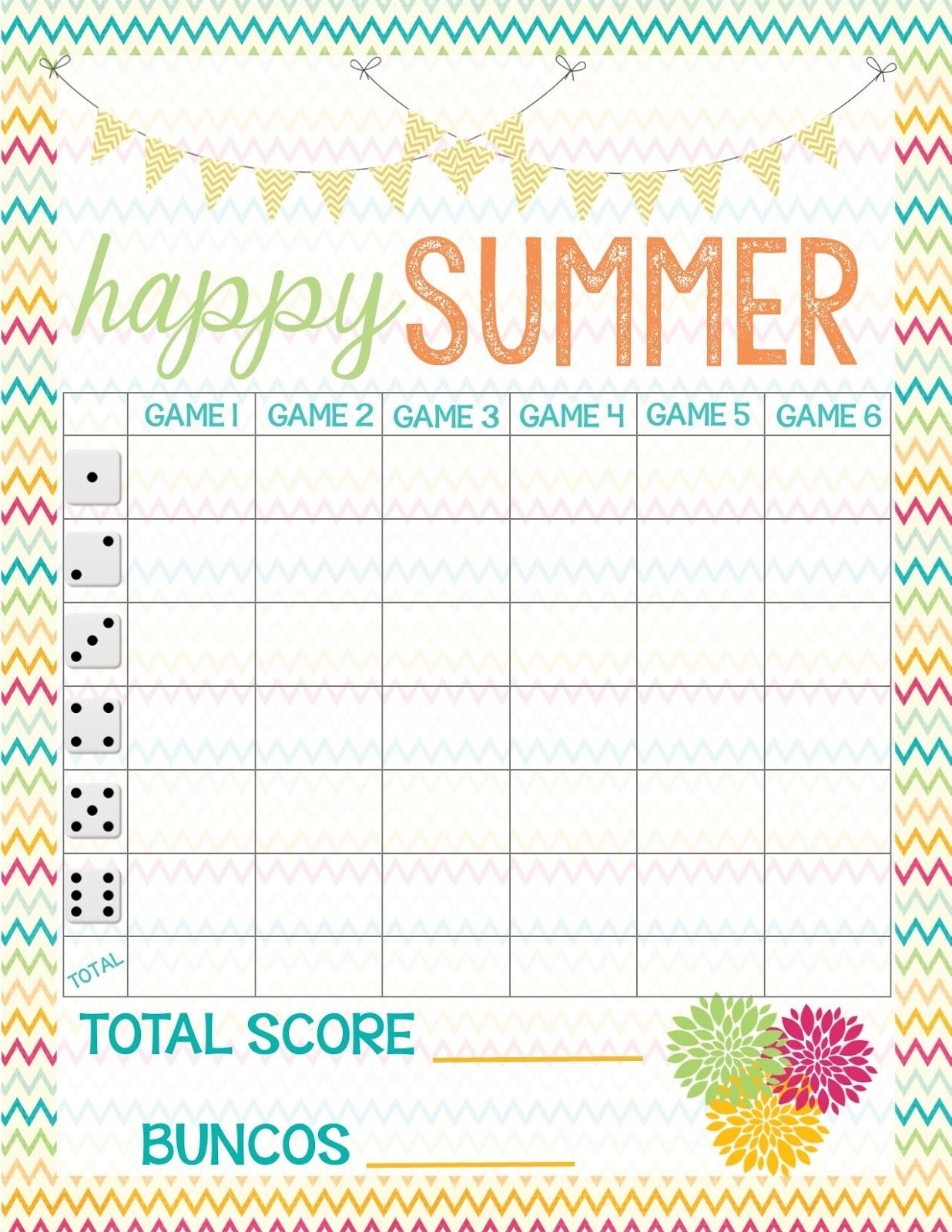 Recipes From Stephanie: Free Bunco Score Sheet - Free Printable Bunco Game Sheets