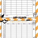 Recipes From Stephanie: Halloween Bunco Sheet   Free Printable Halloween Bunco Score Sheets