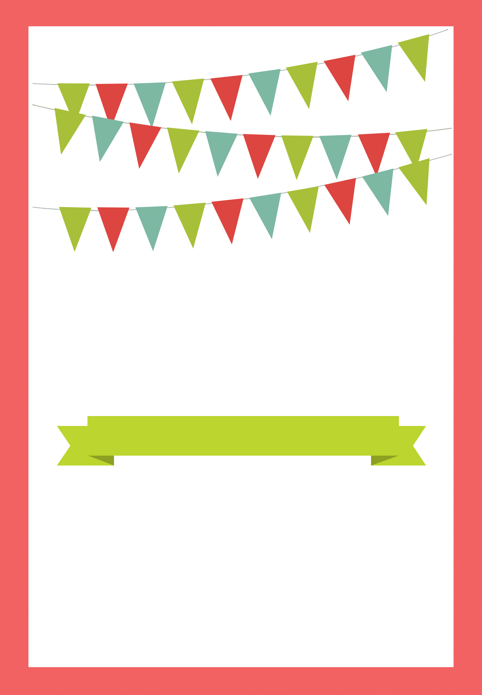 Red Pennants - Free Printable Bbq Party Invitation Template - Greetings Island Free Printable Invitations